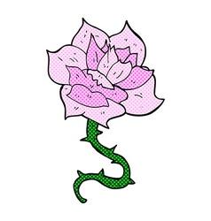 comic cartoon rose vector image