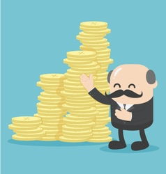 Concept Business offer Lots of money vector image