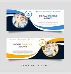 Creative business facebook cover template vector