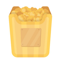 Cup in the form of golden popcornthe prize of vector