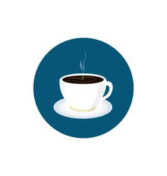 Cup of tea icon cup of coffee icon vector