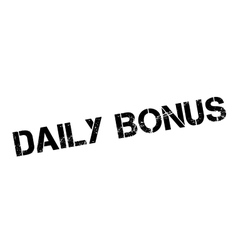 Daily Bonus rubber stamp vector