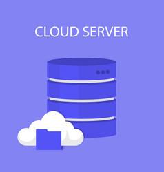 data storage network technology vector image