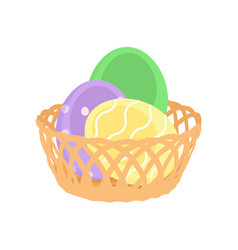 easter eggs spring holiday vector image