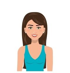 Elegant businesswoman isolated icon design vector