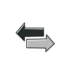 Flat arrows on white background arrows different vector