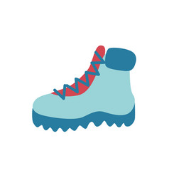 Flat hiking casual walking boots icon vector