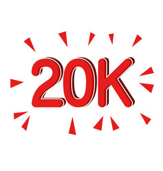 Followers 20k icon vector