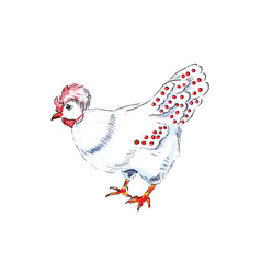 French hen for 12 days christmas charms vector