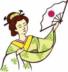 geisha dance vector image