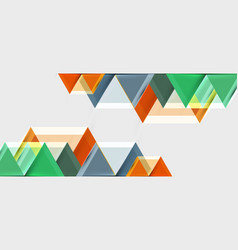 geometric triangle and hexagon abstract background vector image