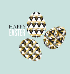 Gold and black concept easter egg decoration of vector
