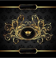 gold vintage for design packing - vector image