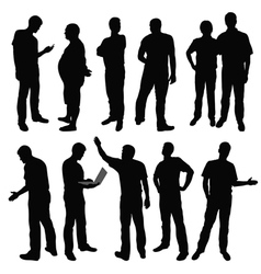 group of men vector image