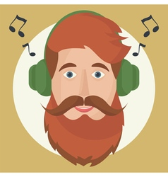 hipster headphones vector image