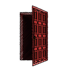 House door isolated vector