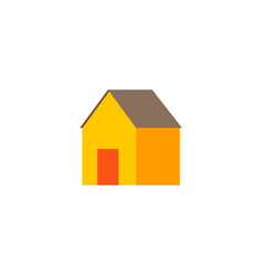 house icon flat element of vector image