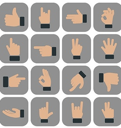 Human Hand collection different hands gestures vector image