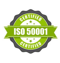 iso 50001 standard certificate badge vector image
