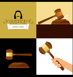 Judge gavel legal hammer cartoon vector