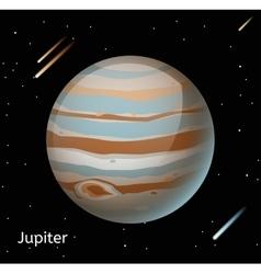 Jupiter planet 3d vector image