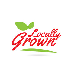 Locally grown hand written word text vector