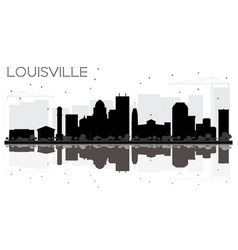 louisville kentucky usa city skyline black and vector image
