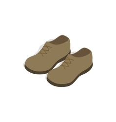 Male shoes icon in isometric 3d style vector image