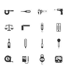 Measuring tools icon set vector