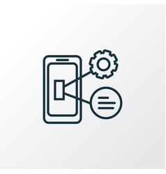 Mobile optimization icon line symbol premium vector