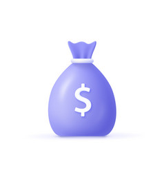 Money bag with dollar icon cash interest rate vector