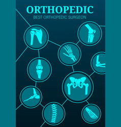 Orthopedic surgery medical therapy surgeon poster vector