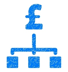 Pound Hierarchy Grainy Texture Icon vector image
