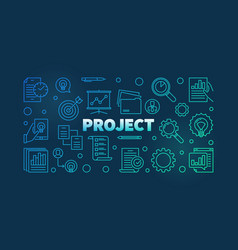 project outline colorful banner business vector image