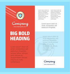 Protected sheild business company poster template vector