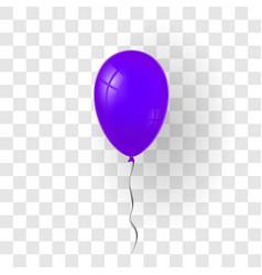 Purple balloon 3d thread isolated white vector