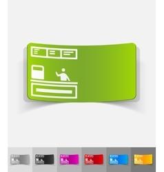 Realistic design element cash desk vector