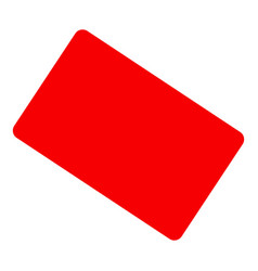 Red card icon flat style vector