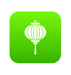 red chinese lantern icon digital green vector image