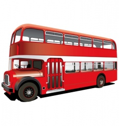 red double decker bus vector image