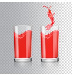 red juice in glass grapefruit cranberry vector image