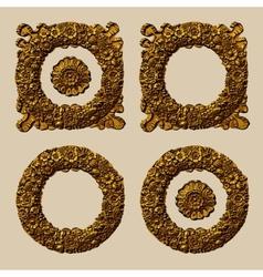 Retro Floral Wreath Set vector image