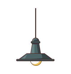 Roof light lamp vector