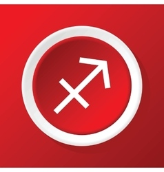 Sagittarius icon on red vector