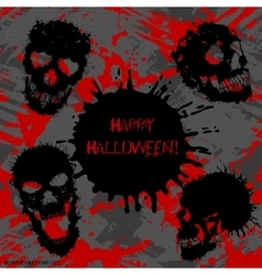 Scary Invitation for Halloween Party vector image