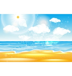 Sea of karon beach Thailand Sea beach with waves vector image