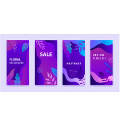 set abstract backgrounds story vector image