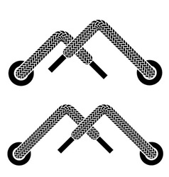 Shoe lace mountain walking symbols vector