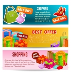 Shopping Horizontal Banners Set vector