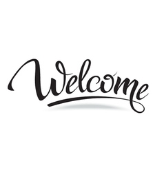 Sign symbol word welcome vector